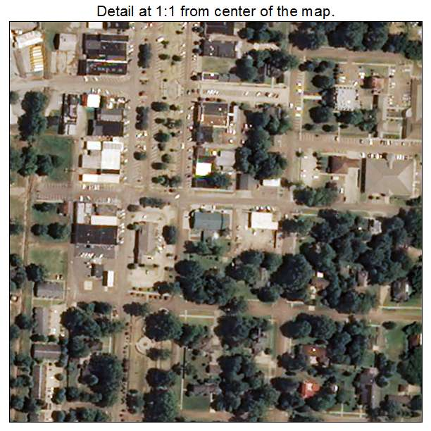 Tunica, Mississippi aerial imagery detail
