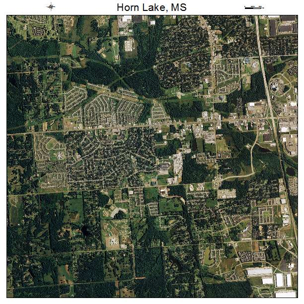 Aerial Photography Map of Horn Lake MS Mississippi