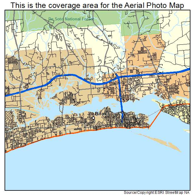 Biloxi, MS location map