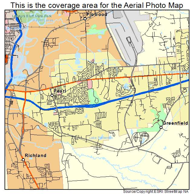 map of pearl mississippi Aerial Photography Map Of Pearl Ms Mississippi map of pearl mississippi