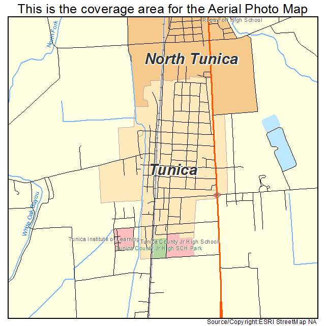 Tunica, MS location map
