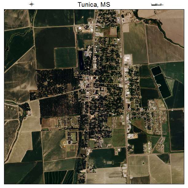 Tunica, MS air photo map