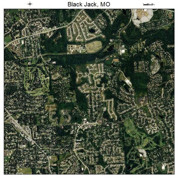 Aerial Photography Map Of Black Jack, MO Missouri