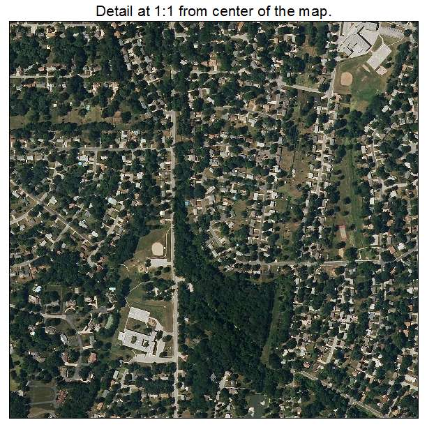 Gladstone, Missouri aerial imagery detail