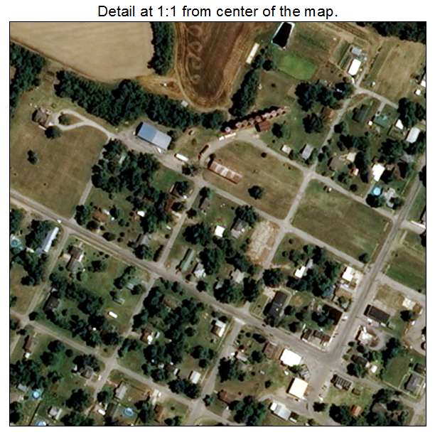Morley, Missouri aerial imagery detail