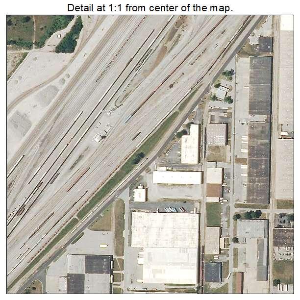 City View Apartments North Kansas City Mo: Aerial Photography Map Of North Kansas City, MO Missouri