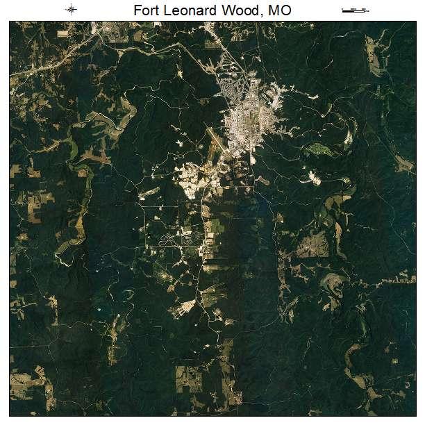 Aerial Photography Map Of Fort Leonard Wood Mo Missouri
