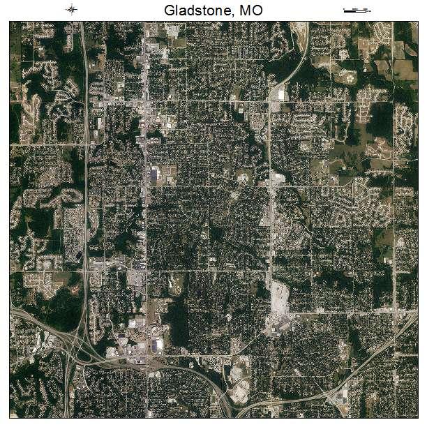 Gladstone, MO air photo map