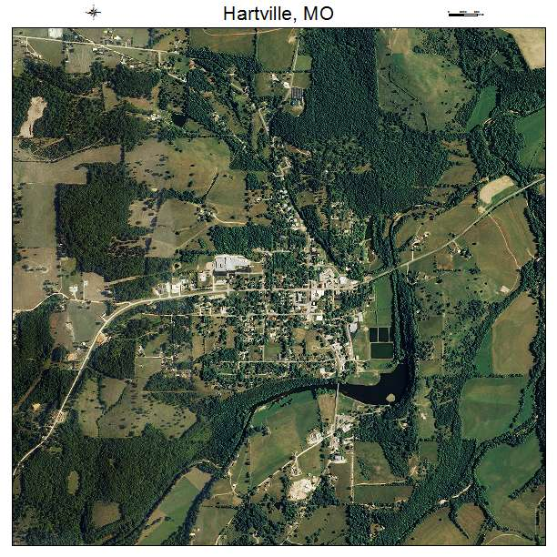 Hartville, MO air photo map