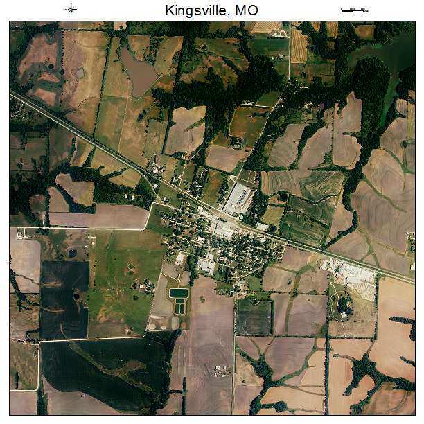 Kingsville Mo: Aerial Photography Map Of Kingsville, MO Missouri