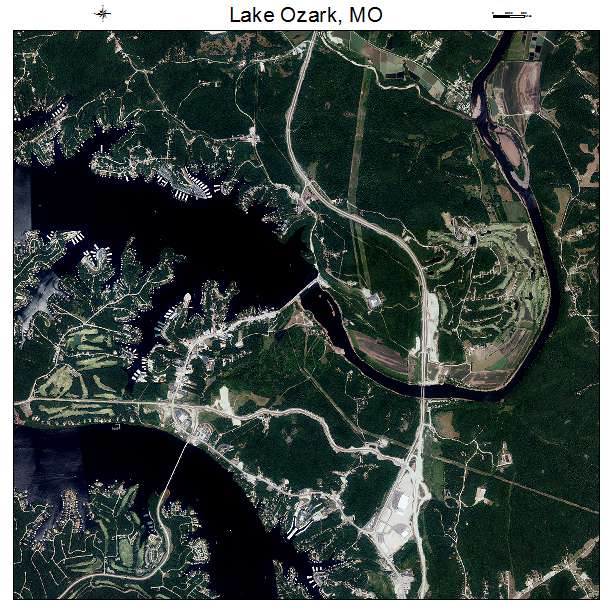 Aerial Photography Map Of Lake Ozark Mo Missouri