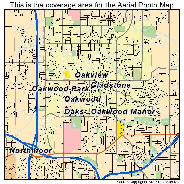 Gladstone, MO location map
