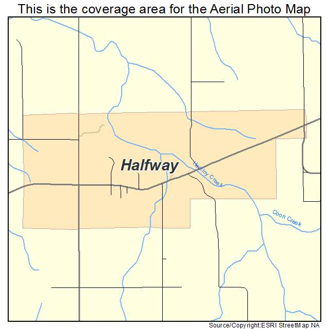 Aerial Photography Map of Halfway, MO Missouri