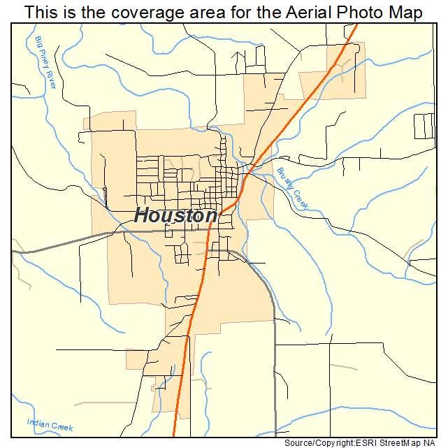 Aerial Photography Map Of Houston Mo Missouri