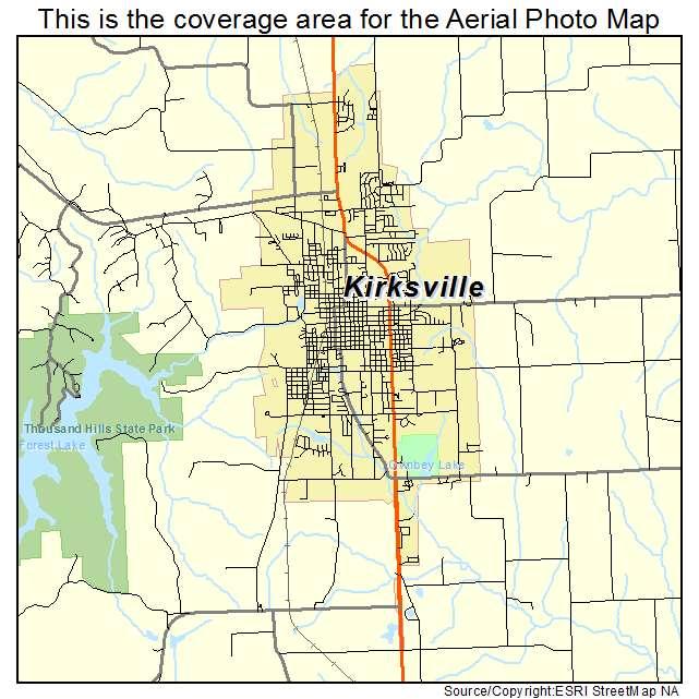 Kirksville Missouri Map.Missouri Map Kirksville Mo Whitepear Store
