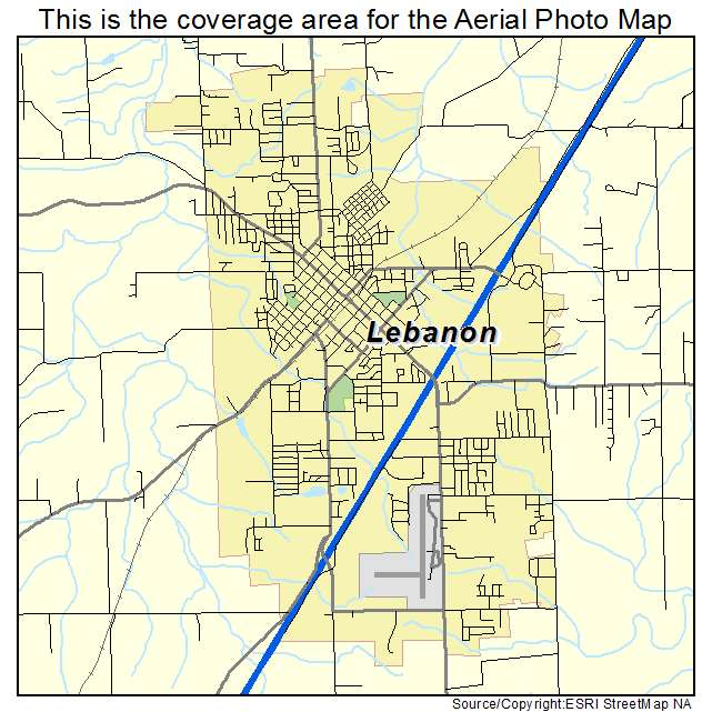 Aerial photography map of lebanon mo missouri lebanon mo location map sciox Image collections