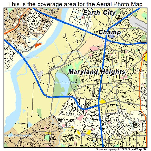 where is maryland heights mo on the map Aerial Photography Map Of Maryland Heights Mo Missouri where is maryland heights mo on the map