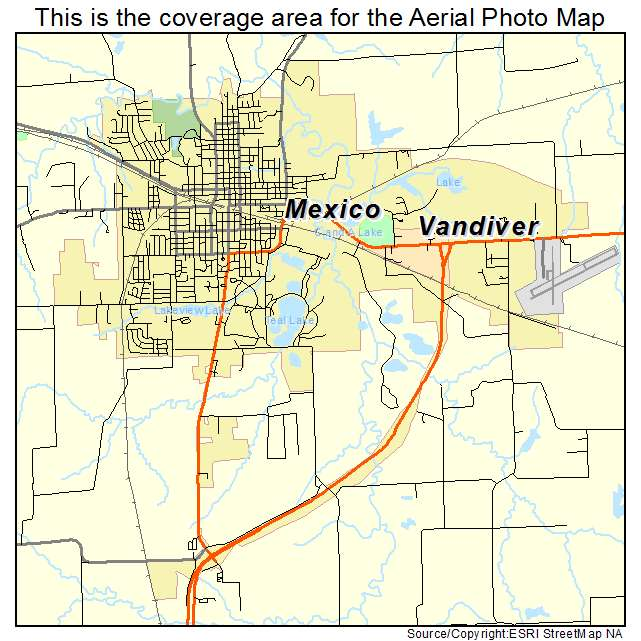 Aerial Photography Map Of Mexico Mo Missouri