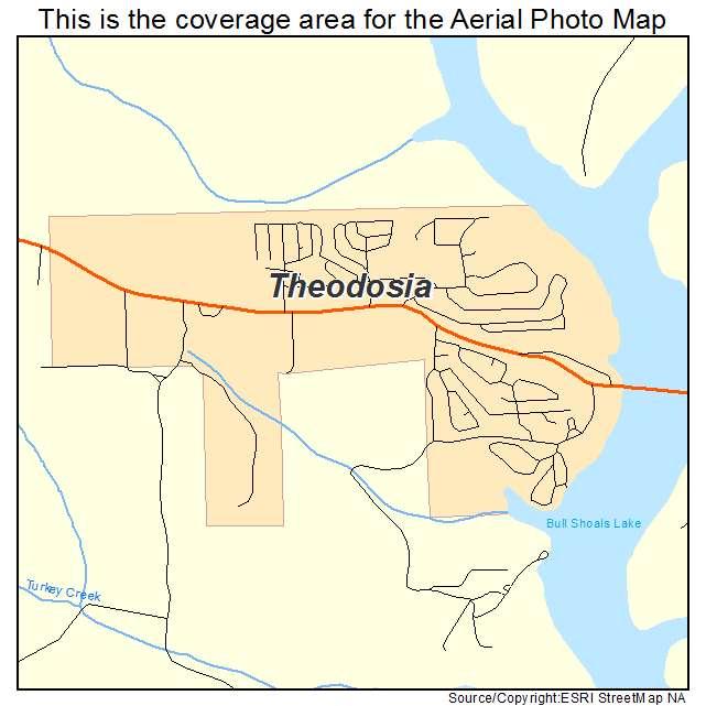 Theodosia, MO location map