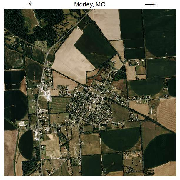 Morley, MO air photo map