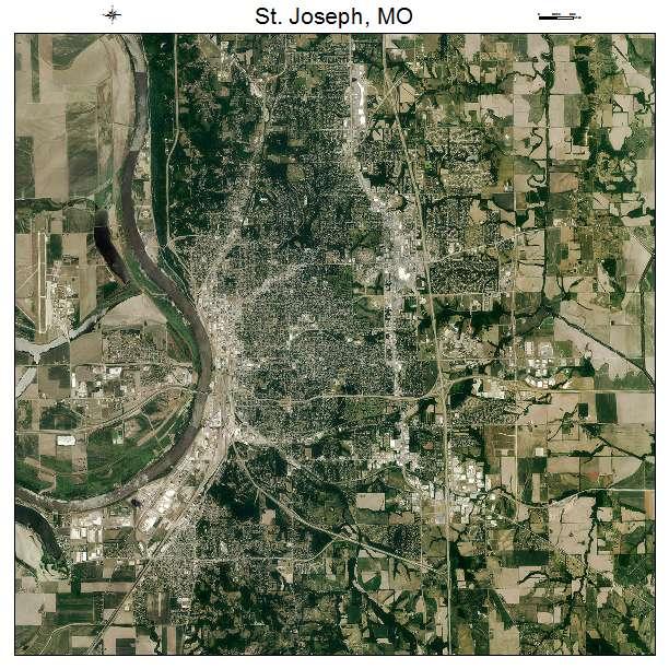 St Joseph, MO air photo map