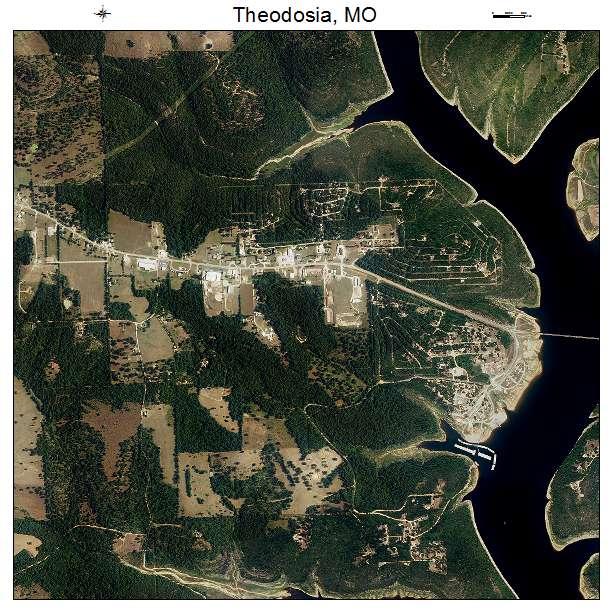 Theodosia, MO air photo map