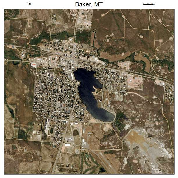 Aerial Photography Map Of Baker Mt Montana