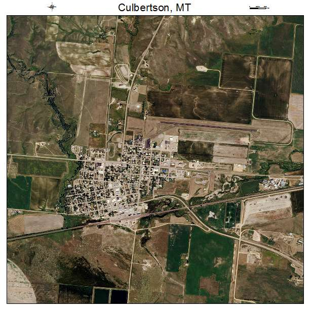 Culbertson, MT air photo map
