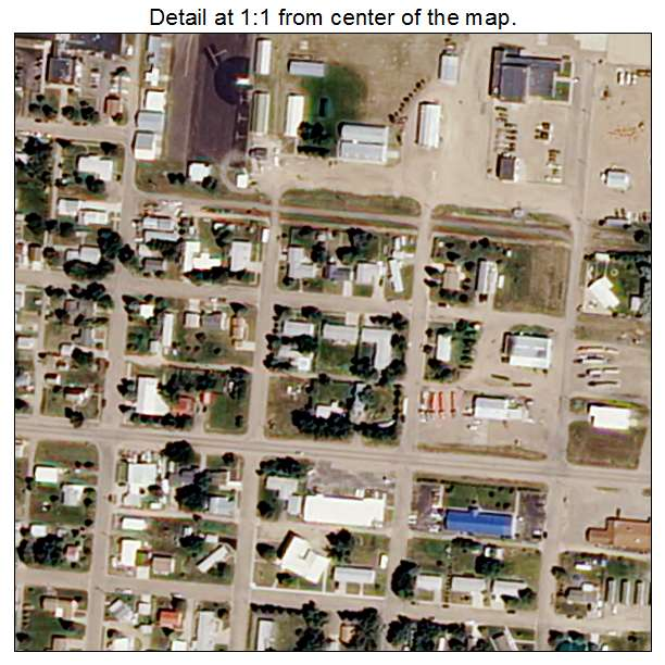 Culbertson, Montana aerial imagery detail