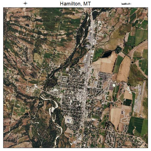 Hamilton, MT air photo map
