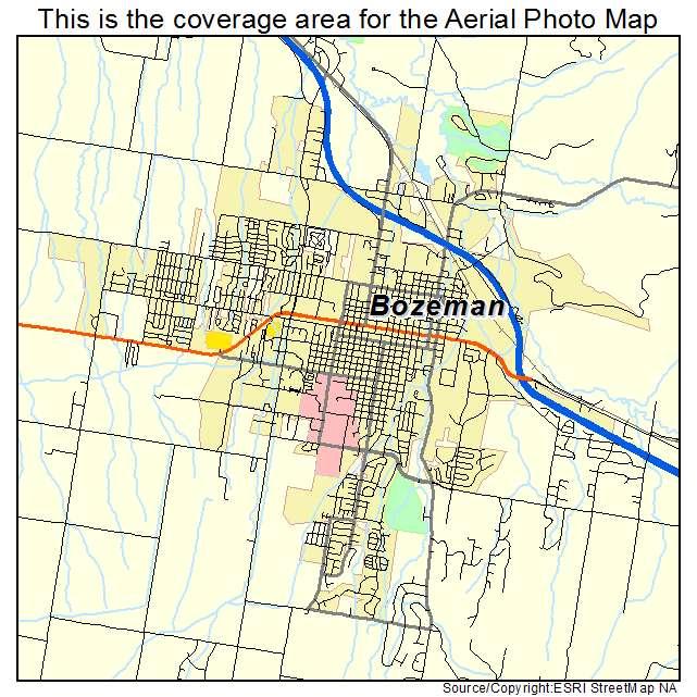 Map Of Bozeman Montana Montana Map - Map of mt