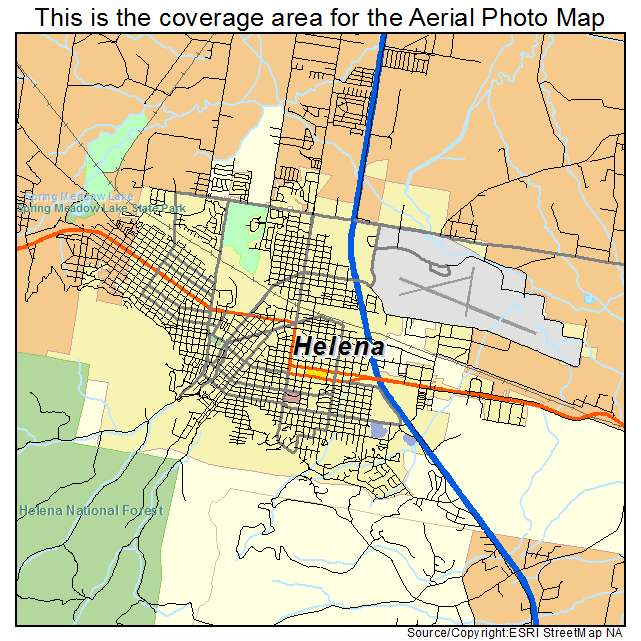 Aerial Photography Map Of Helena MT Montana