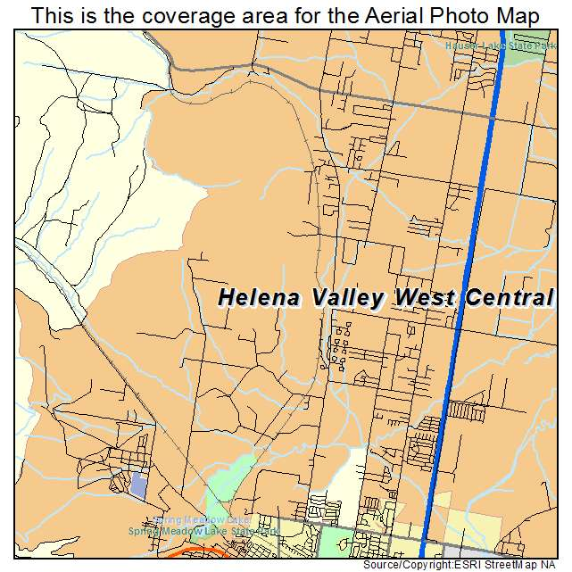 Aerial Photography Map Of Helena Valley West Central MT