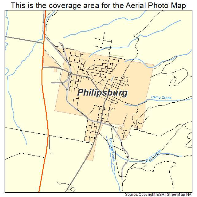 Philipsburg Ny: Aerial Photography Map Of Philipsburg, MT Montana