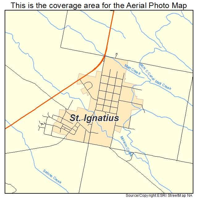 st ignatius montana map Aerial Photography Map Of St Ignatius Mt Montana
