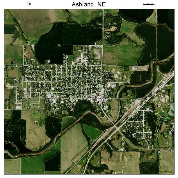 Aerial Photography Map Of Ashland Ne Nebraska