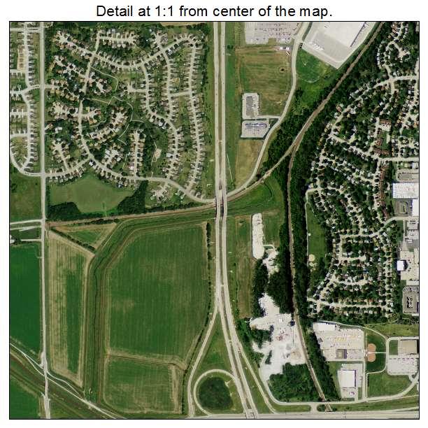 Aerial Photography Map of Bellevue NE Nebraska