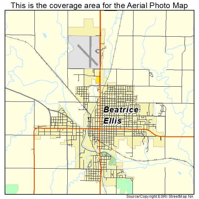 Aerial Photography Map of Beatrice NE Nebraska