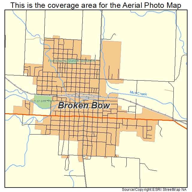 Aerial Photography Map Of Broken Bow Ne Nebraska