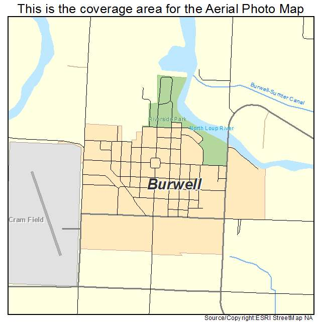 Aerial Photography Map of Burwell, NE Nebraska