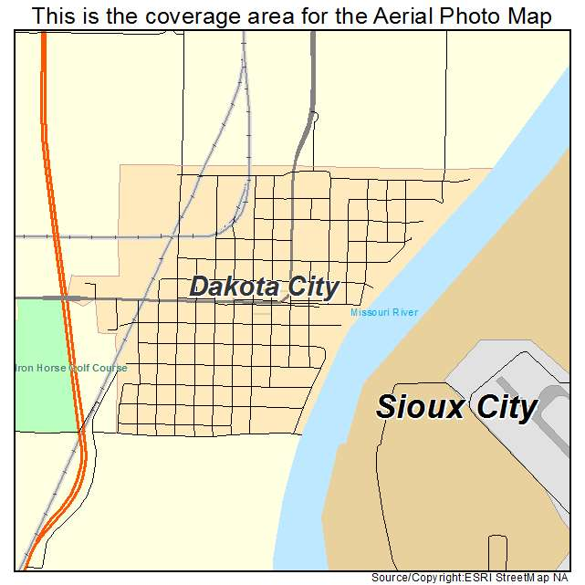 Dakota City, NE location map
