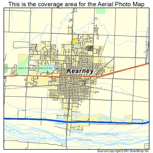 Aerial Photography Map of Kearney NE Nebraska