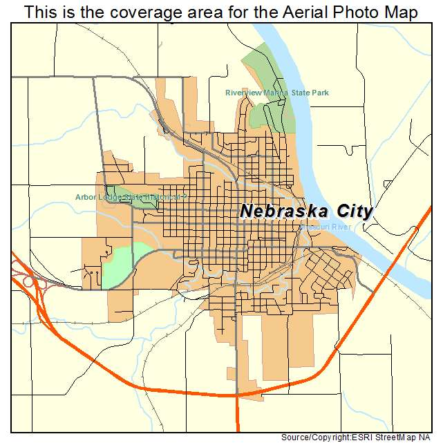 Aerial Photography Map Of Nebraska City NE Nebraska - City map of nebraska