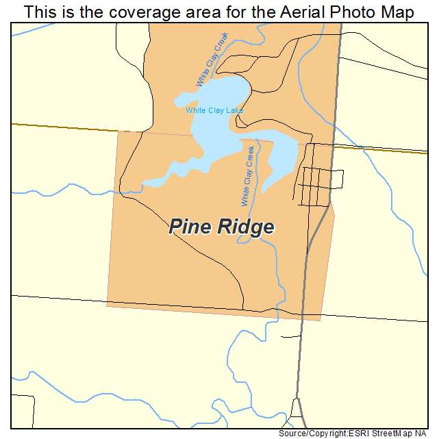Pine Ridge, NE location map