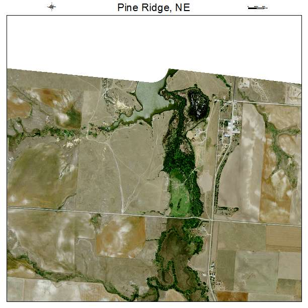 Pine Ridge, NE air photo map