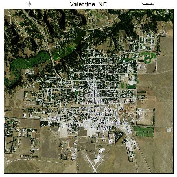 Valentine, NE Air Photo Map