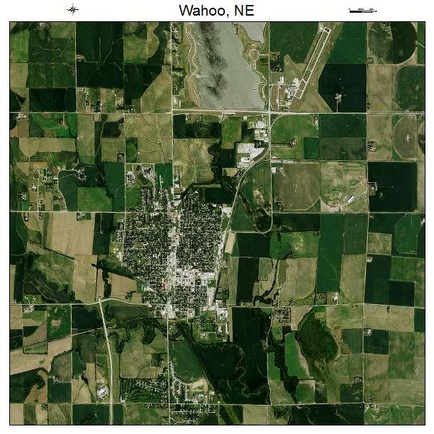 Aerial Photography Map Of Wahoo Ne Nebraska