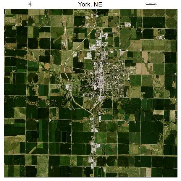 Aerial Photography Map Of York NE Nebraska