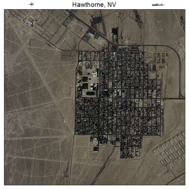 Aerial Photography Map Of Hawthorne NV Nevada