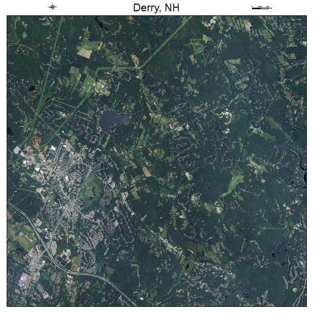 Derry, NH air photo map